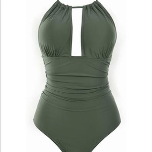 NEW Tummy Control  V Neck Bathing Suit